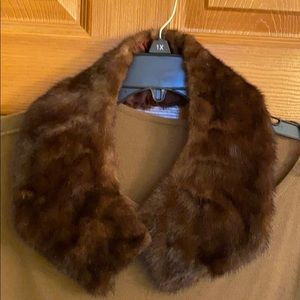 Mink collar for any jacket or top luxury item